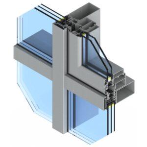 фасадні алюмінієві вікна77